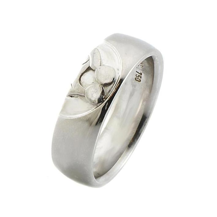 Kissing band white gold ring - What Women Want Jewellers