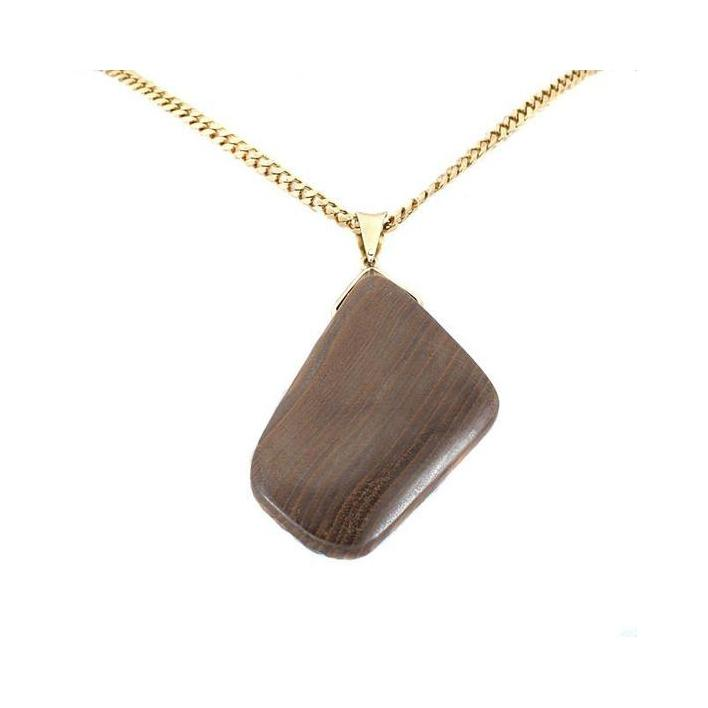 Large boulder opal gold pendant - What Women Want Jewellers