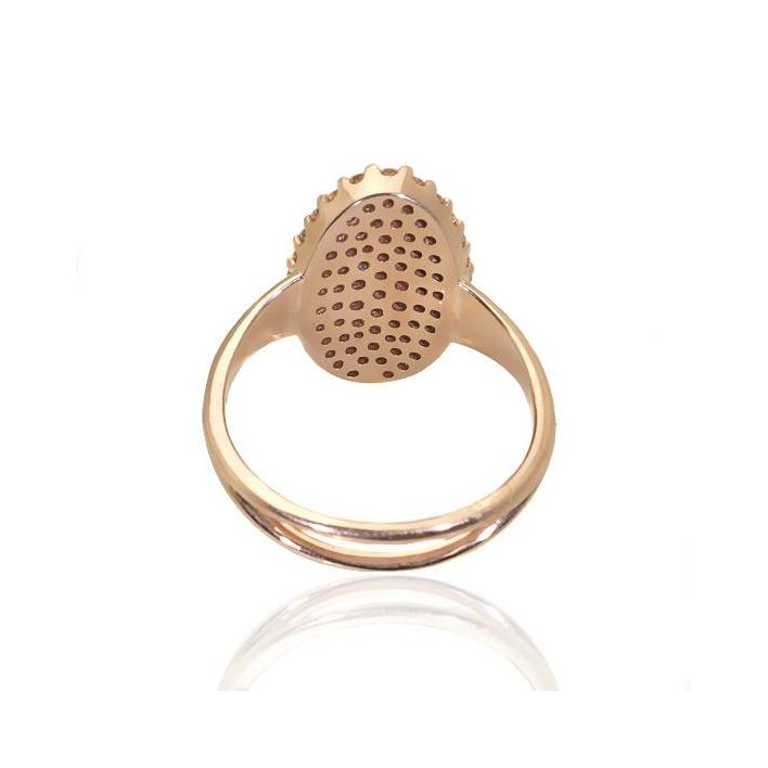 Large cluster diamond rose gold ring - What Women Want Jewellers