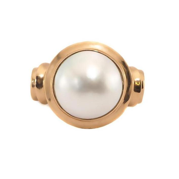 Mabe pearl rose gold ring - What Women Want Jewellers
