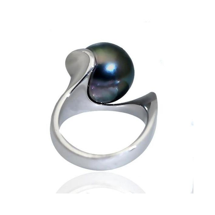 Mikimoto black pearl silver ring - What Women Want Jewellers