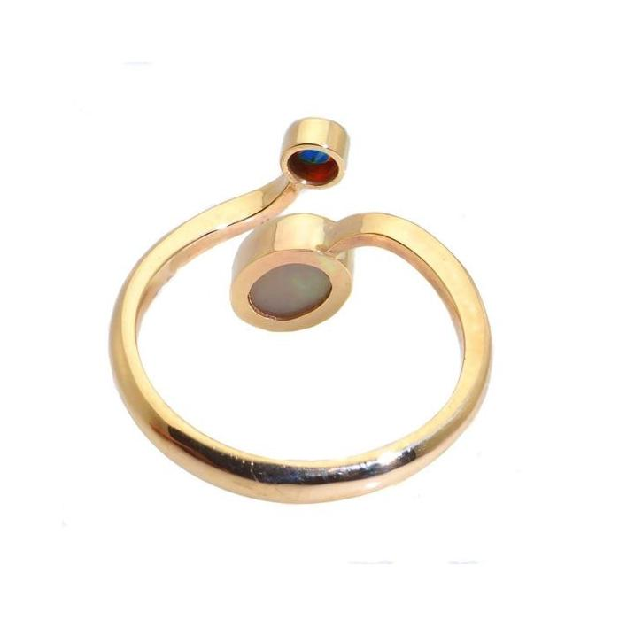 Opal tanzanite gold ring - What Women Want Jewellers