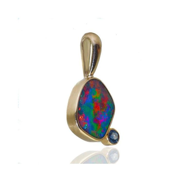 Opal topaz gold pendant - What Women Want Jewellers