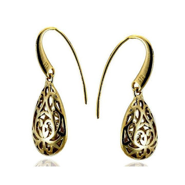 Oval filigree gold earrings - What Women Want Jewellers