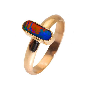 Oval opal gold ring - What Women Want Jewellers