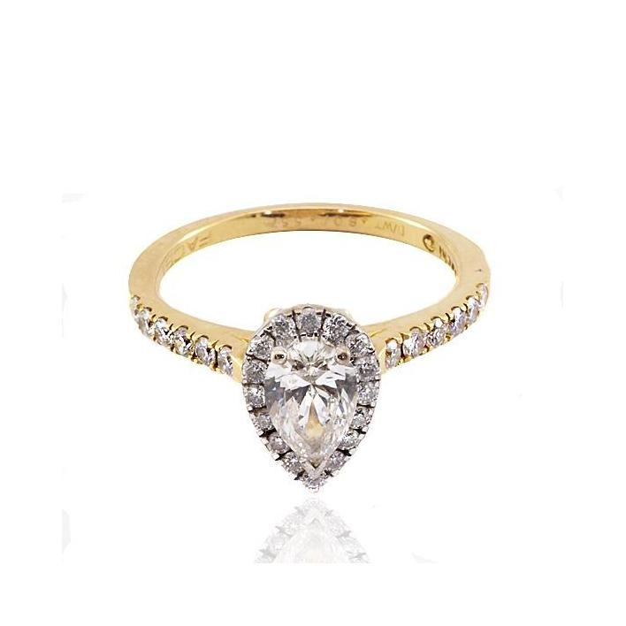 Pear diamond gold engagement ring SAACHI - What Women Want Jewellers