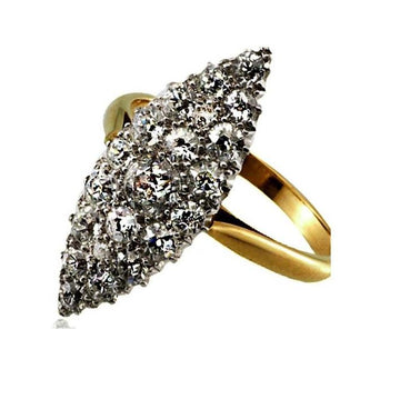 Oval cluster diamond gold engagement ring - What Women Want Jewellers