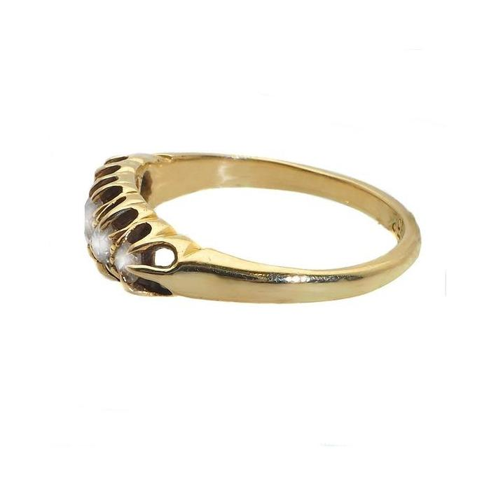 Round bridge diamond gold ring - What Women Want Jewellers