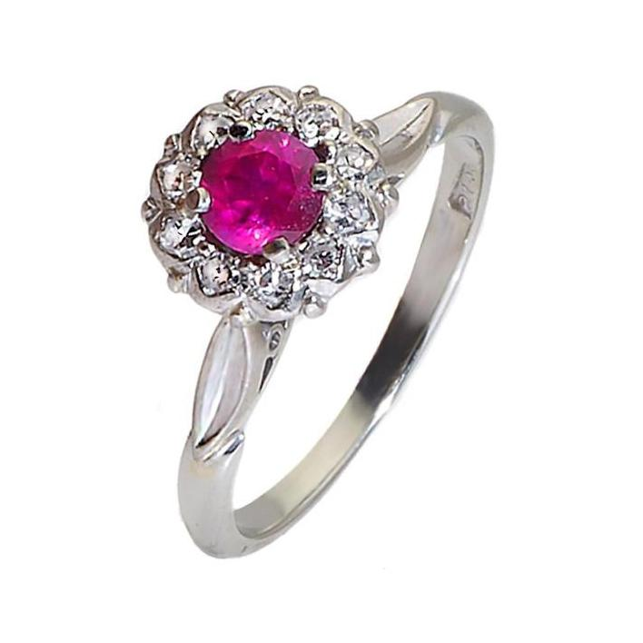 Ruby diamond gold engagement ring - What Women Want Jewellers