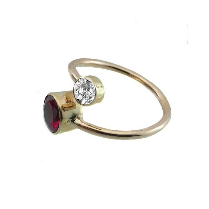 Rubellite zircon rose gold ring - What Women Want Jewellers