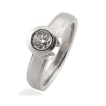 Solitaire diamond white gold engagement ring - What Women Want Jewellers