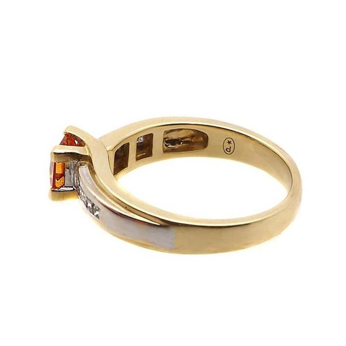 Spessartite garnet gold engagement ring - What Women Want Jewellers