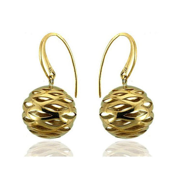 Sphere filigree gold earrings - What Women Want Jewellers