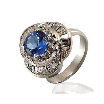 Tanzanite diamond white gold engagement ring - What Women Want Jewellers