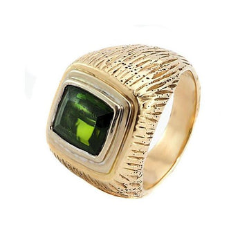 Tourmaline gold men's ring - What Women Want Jewellers
