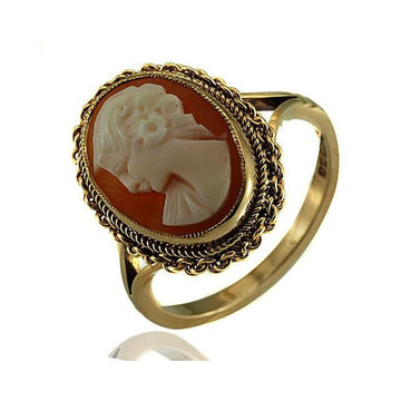 Vintage cameo gold ring - What Women Want Jewellers