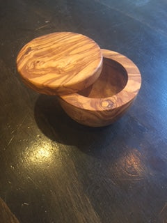 Olive Wood Salt Cellar with Magnet