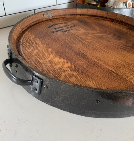 'Pinot' Wine Barrel Platter - Pull Handle