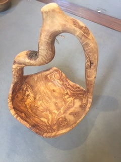 Olive Wood Bowl With Handle