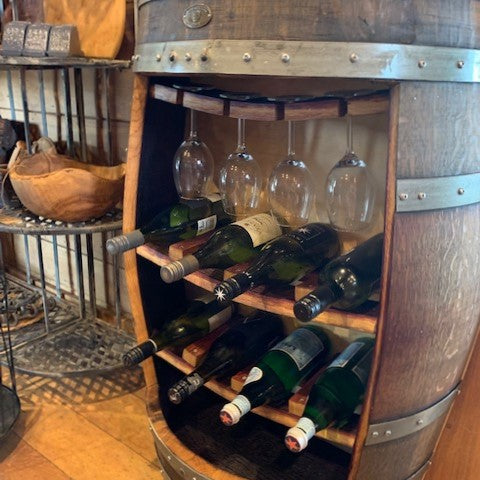 Barrel Cabinet Wine and Glass Rack