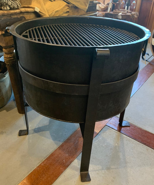 Iron Fire Pit/Brazier Double Grill
