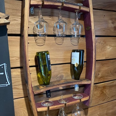 Open Stave Wine and Glass Rack