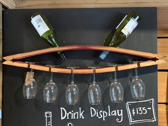 Stave Wine and Glass Rack
