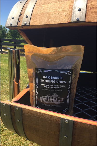 Oak Smoking Chips - Red Wine (1 Bag)