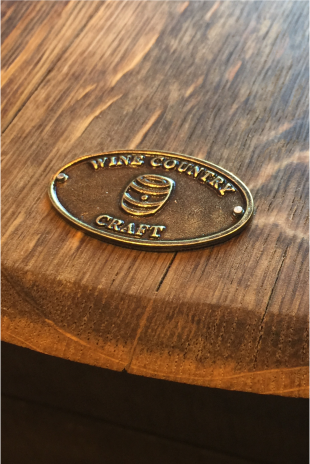 'Champagne' Wine Barrel Lazy Susan