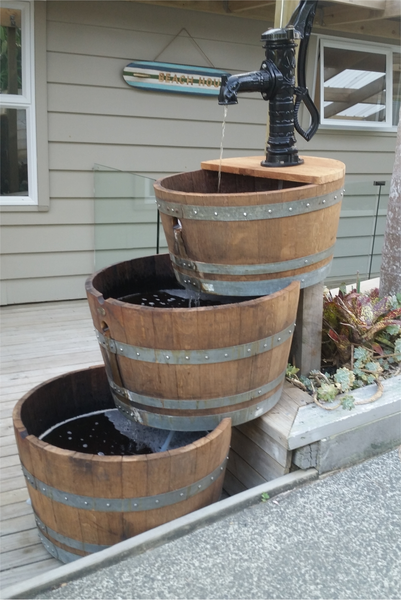 3 Tier Barrel Water Feature