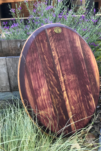 'Champagne' Barrel Platter - Wine Stained