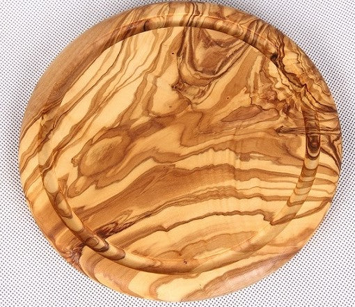 Olive Wood Oval Cutting Board With Groove