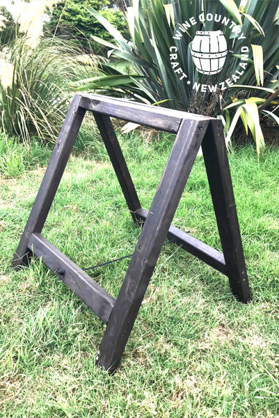 *HIRE* Rustic Black Trestle Legs (pair)