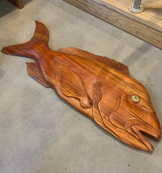 Hand Carved Rosewood Snapper