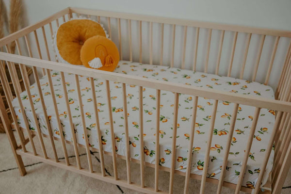 Fitted Cot Sheet - Lemon