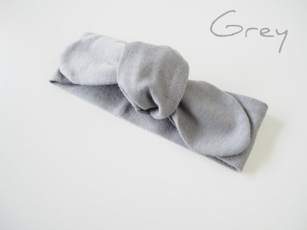Baby - Topknot Headband - Grey