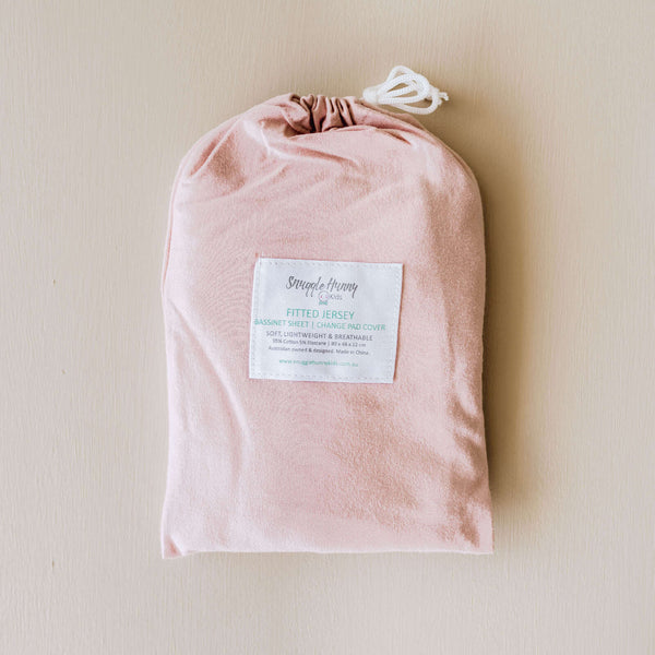 Fitted Bassinet Sheet & Change Pad/Snuggle Me Organic Cover - Lullaby Pink