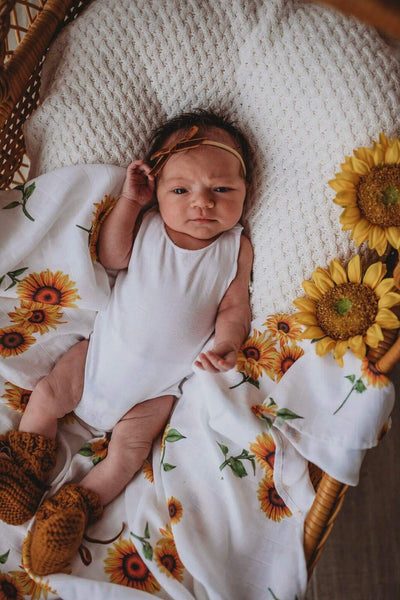 Muslin Swaddle - Sunflower