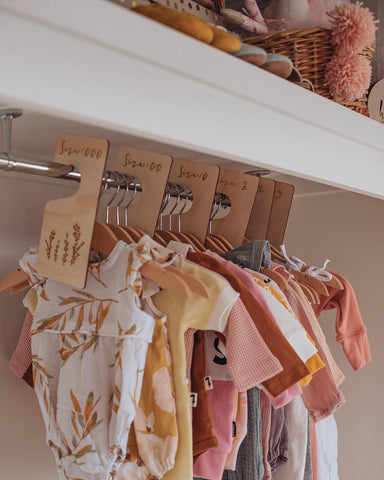 Baby - Set Of 6 Timber Clothing Dividers (PRE ORDER MAY)