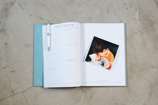 Baby Journal - Birth to Five Years - Grey