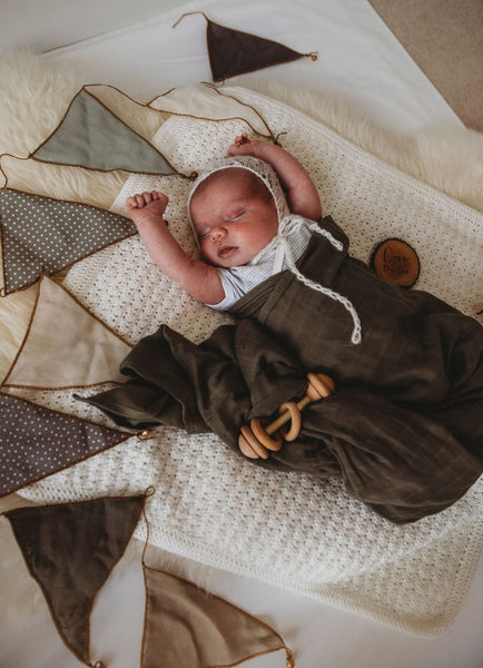 Muslin Swaddle - Dusty Olive