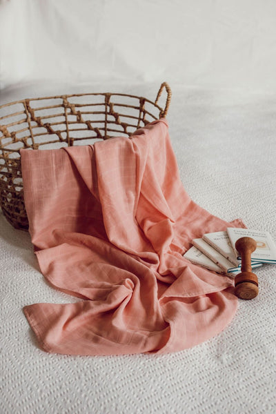 Muslin Swaddle - Vintage Blush