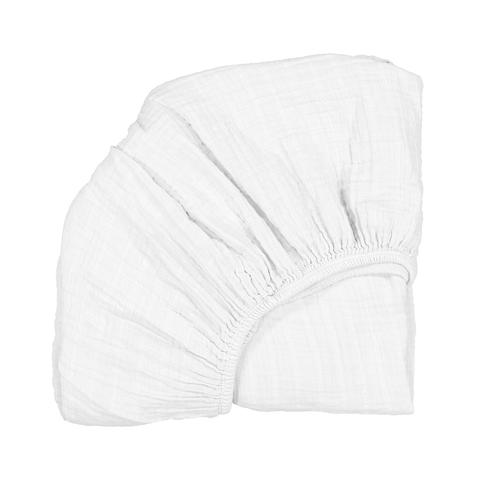 Charlie Crane - Fitted Sheet for Kumi Cradle - White