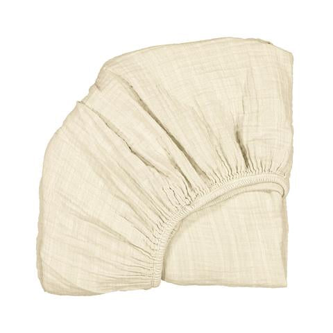 Charlie Crane - Fitted Sheet for Kumi Cradle - Cream