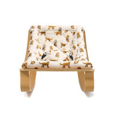 Charlie Crane Baby Rocker Levo - Beech with Jaguar Cushion