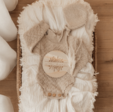 Double Gauze Swaddle with Cream Fringe - Cream