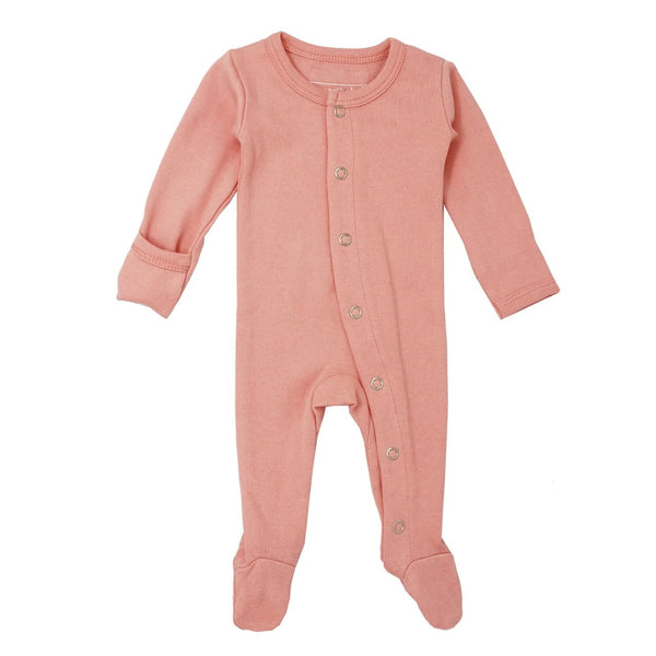 Organic Footed Overall - Coral