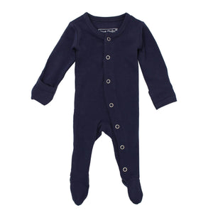 Organic Footed Overall - Navy