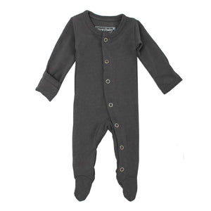 Organic Footed Overall - Grey