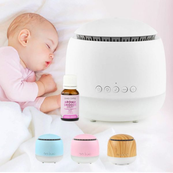 Aroma Snooze Sleep Aid & Organic Essential Oil Snooze Blend Bundle